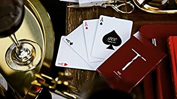 USPCC New T Cartas de Juego Playing Cards Wine Red ...