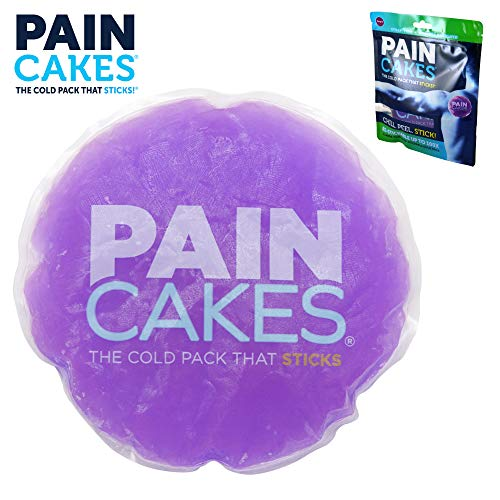 PAINCAKES The Cold Pack That Sticks & Stays in Place- Reusable Cold Therapy Ice Pack Conforms to Body, 1 Large (Purple- 5)