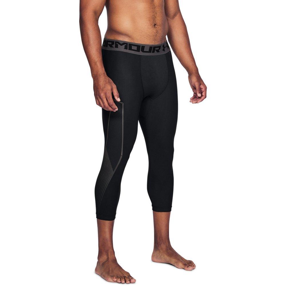 Under Armour Men's HeatGear Armour Graphic ¾ Leggings, Black (001)/Charcoal, Medium