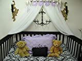 Shabby Chic Princess Bed Crown Canopy Crib POLE Flag Pendents Baby Nursery Decor Princess Girl's Bedroom FREE White SaLe