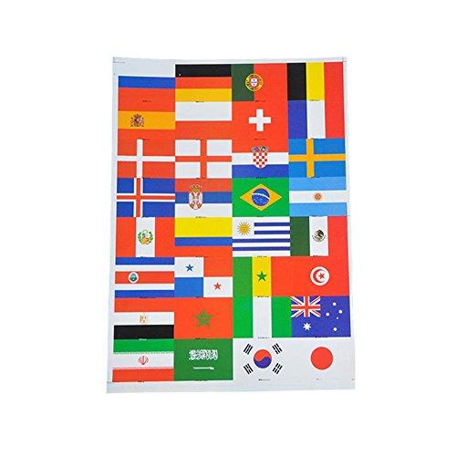 通知素人あなたのものYouN 2018ロシアワールドカップステッカーサッカーナショナルフラッグフェイスボディアームステッカー