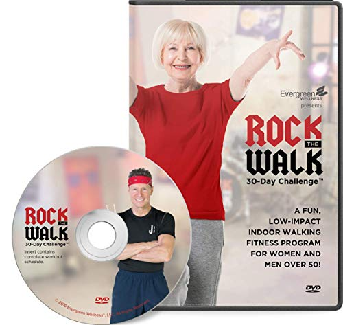 Evergreen Wellness Rock The Walk 30-Day Workout Challenge DVD for Beginners and Seniors - The Low Impact, Indoor Walking Exercise Program (Best Way To Increase Arm Muscle)