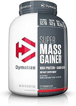Dymatize Super Mass Gainer, Strawberry (6 lbs)