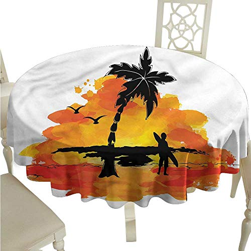 Personalized Tablecloths Holiday,Happy Summer Text Island,for Bistro Table