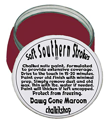 Chalk Matte Finish Paint for Furniture Arts Crafts 8 oz. Dawg Gone Maroon