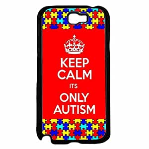 Keep Calm Its Only Autism TPU RUBBER SILICONE Phone Case Back Cover Samsung Galaxy Note II 2 N7100