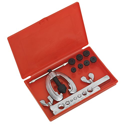 Sealey AK505 9 Piece Pipe Flaring Kit Silver