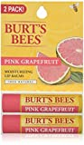 Image of Burt's Bees 100% Natural Moisturizing Lip Balm, Pink Grapefruit, 2 Tubes in Blister Box