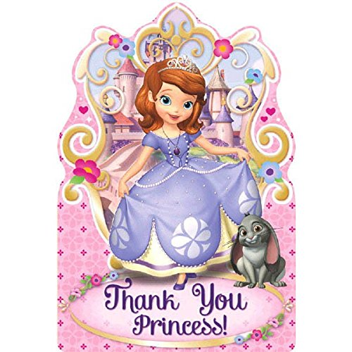 Postcard Thank You Cards | Disney Sofia The First Collection | Party Accessory]()