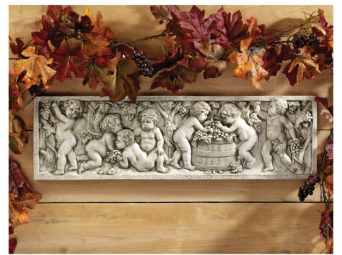 - Italian Bacchus Wine God Cherub Children Wall Sculpture Statue Figurine