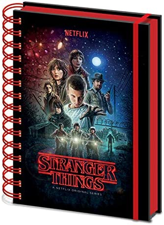 Stranger Things Cuaderno de Notas con Espiral A5, Multicolor: Amazon.es: Hogar