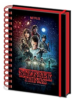 Stranger Things Cuaderno de Notas con Espiral A5, Multicolor