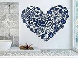 Heart Wall Decal Sea Shells Turtles Fish Nautical Decor Vinyl Sticker Decals Bathroom Nursery Bedroom Home Decor Art Design Interior NS951