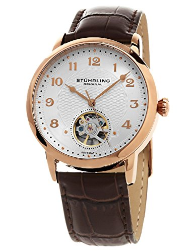 Stuhrling Original Men's 781.05 Legacy Analog Display Automatic Self Wind Brown Watch