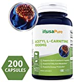 Best Acetyl L-carnitine Pures - Pure Acetyl L-Carnitine 1000mg 200 Capsules Review