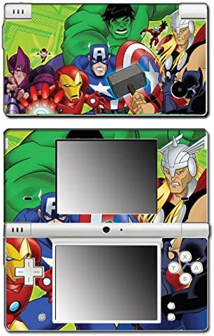 Avengers Earth's Mightiest Heroes Thor Hulk Iron Man Captain America Cartoon Video Game Vinyl Decal Skin Sticker Cover for Nintendo DSi System