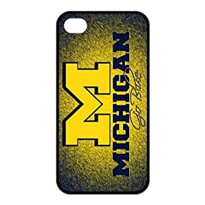 NCAA Michigan Wolverines Logo for iphone 5 5s Best Rubber Cover Case-Creative New Life