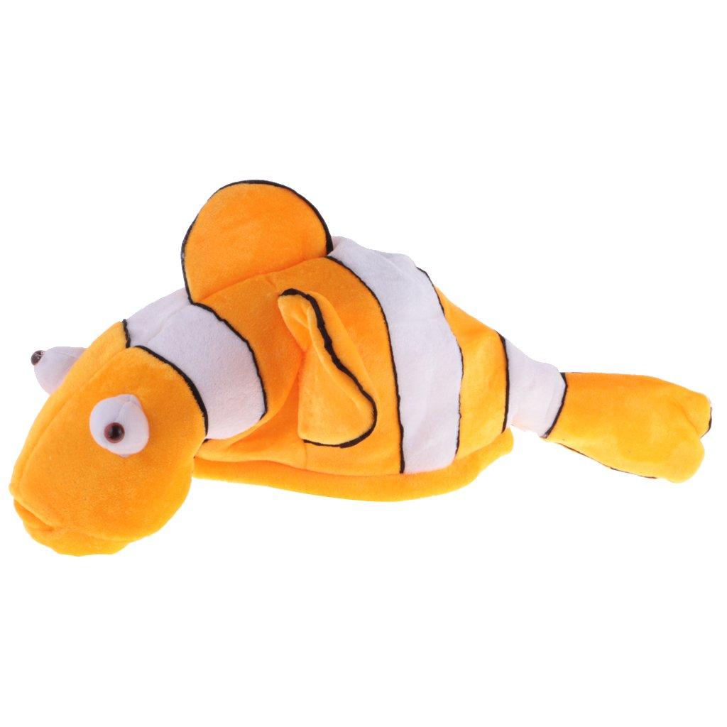 Dovewill Funny Cartoon Sea Animal Clownfish Warm Hat Velvet Unisex Kids Adults Birthday Hat Present Cosplay Fancy Toy