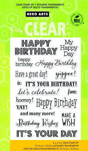 Price comparison product image Hero Arts It's Your Day Clear Stamp Set