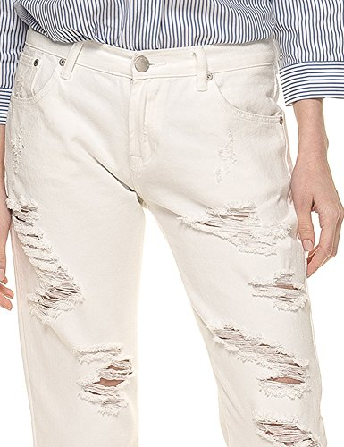 Color Cotton In Glamorous Jeans White 100 Women's YwU6Pn7qxI