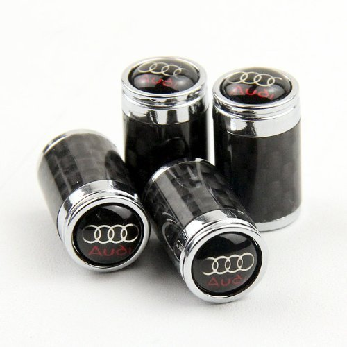 (Carbon Fiber Car Air Tire Valve Caps for Audi by AED)