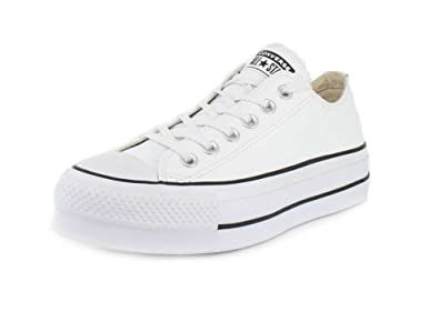 e996465179d Converse Womens Chuck Taylor All Star Lift Clean Low-Top White Black White