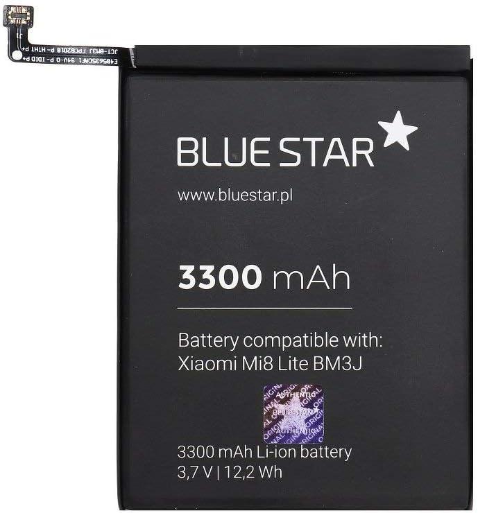 Blue Star Premium - Batería de Li-Ion Litio 3300 mAh de Capacidad Carga Rapida 2.0 Compatible con el Xiaomi Mi8 Lite (BM3J)