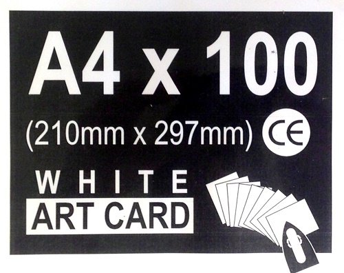 Encaustic Art White Painting Card 100 A4 Sized Cards 8.25'' x 11.7'' 99537300