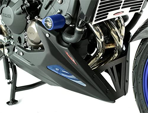 //carbonio look-blue mesh/  320-y119/  / Puntale Fits con protezioni Yamaha Engine / Yamaha mt-09/ Tracer 15//fj-09/ Tracer 15/  / 780/