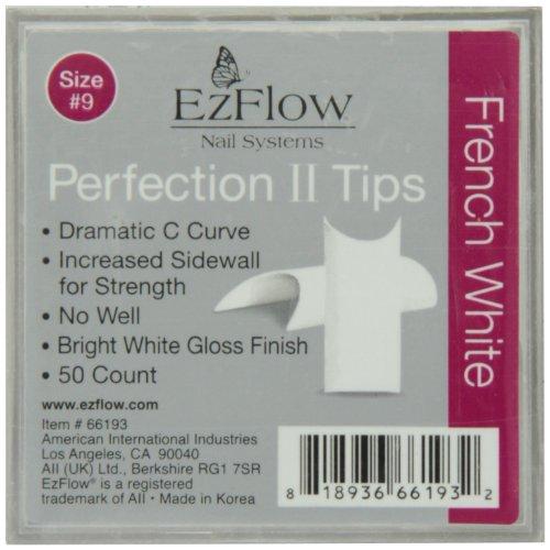 EZ Flow No.9 Perfection Ii Tips French White 50 ()