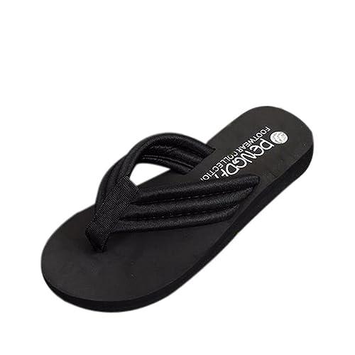 Damen Slippers Schuhe Handtaschen Womens Sommer Flip Flops Casual Hausschuhe Flachen Sandalen Strand Open Toe...