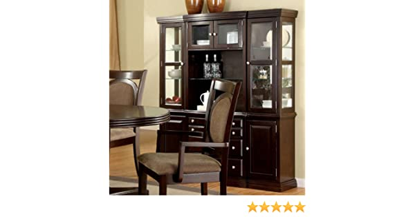 Amazon 247SHOPATHOME Idf 3418HB China Cabinets Brown Kitchen Dining