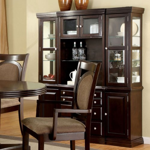Dining Room Walnut Hutch (247SHOPATHOME Idf-3418HB China-Cabinets, Brown)