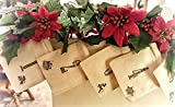 Christmas Advent Calendar Banner - Mantle Decor - 25 day Countdown