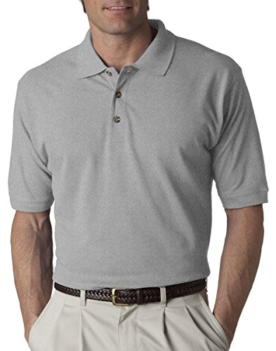 Ultraclub Mens Classic Pique Polo (8535) -HEATHER GR ()