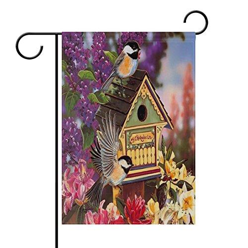ALAZA Hummingbird Birdhouse Flowers Spring House Flag Garden Banner 28