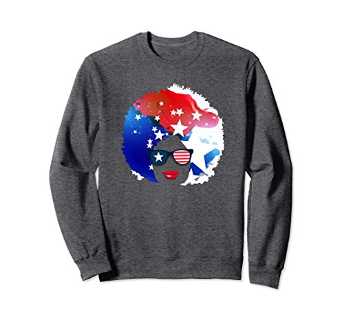 Unisex Natural Girl Sweatshirt - American 4th of July Sweatshirt 2XL Dark Heather