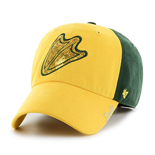 '47 NCAA Oregon Ducks Women's Sparkle Two Tone Clean Up Adjustable Hat, One Size, Dark Green