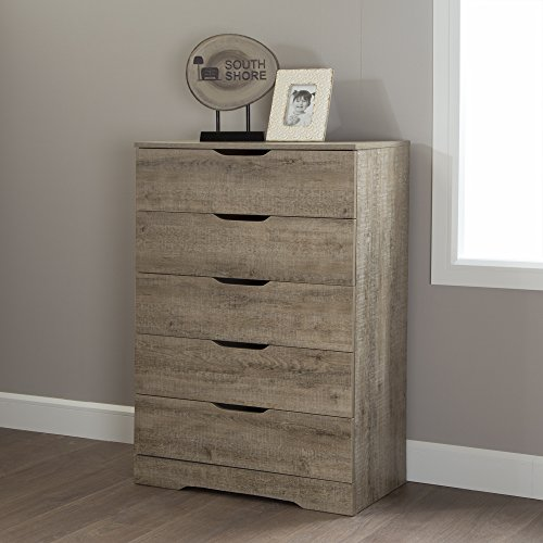 South Shore Holland 5-Drawer Chest, Weathered Oak by South Shore (Image #1)