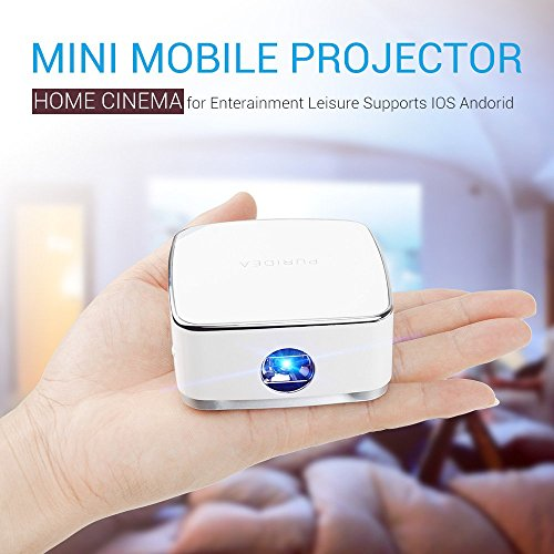 Lightwish mini portable wireless dlp projector with mini for Mini projector iphone compatible