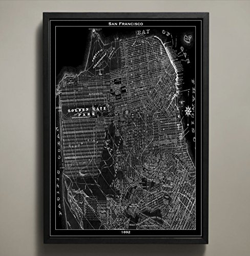 San Francisco Map Print, Wall Art for your Home or office Decor