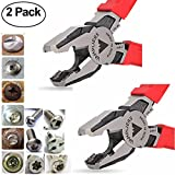 VAMPLIERS. Best Lineman's Pliers. VT-001-8, 8'' PRO Specialty Screw Extraction Pliers. Extract Stripped/Stuck/Security/Rusted Screws/Nuts/Bolts Best for Aircraft/Electricians/Mechanic/Maintenance (2)