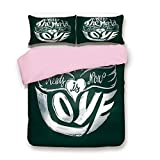 Whats the Difference Between King and Cal King Pink Duvet Cover Set,King Size,What the World Needs Now is Love Quote Lettering Art Circle Grunge Typography Decorative,Decorative 3 Piece Bedding Set with 2 Pillow Sham,Best Gift For Girls Women,Dark