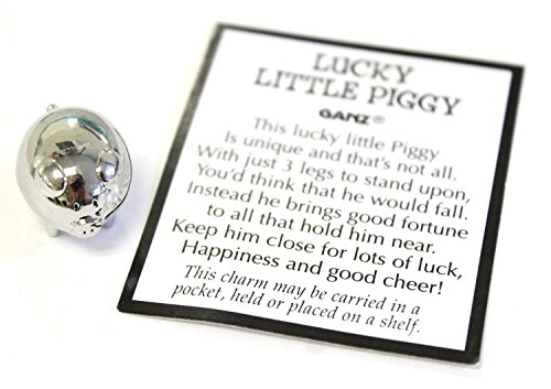 Lucky Little Pig With Story Card (Pig Measures about 3/4 long) by Ganz - Good Luck Token