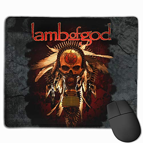 Lamb of God Wrath Mouse Pad with Stitched Edge Mouse Mat Non-Slip Rubber Base Mousepad 11.8×9.8×0.1 Inches
