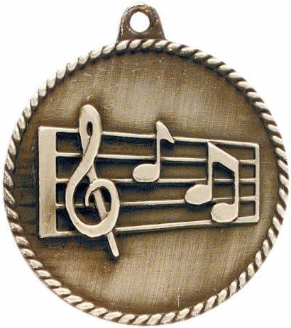 Trofeo medalla de paraíso música de alta alivio – 2.0