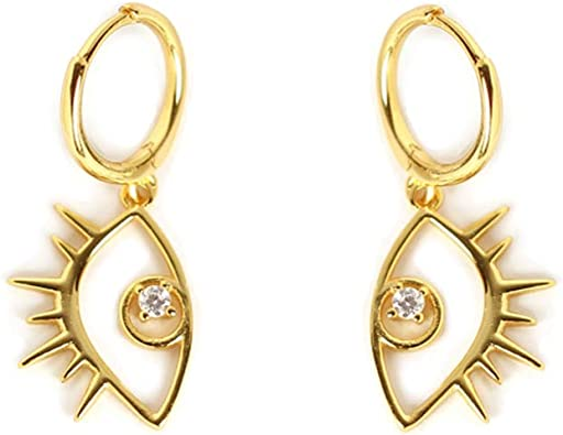 Romantic Key to Someones Heart with Cubic Zirconia Gemstone Stud Earrings in 14K Yellow Gold for Women and Girls