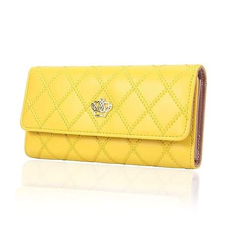 Ogquaton Monedero para Mujer s 3 Fold Billetera para Mujer Billetera Larga para Mujer Regalo
