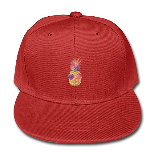 YSDISJE Glasses Pineapple Kid Hip Hop Baseball Cap Toddler Snapback Hat For Boys Girls Popular Adjustable Cool Trucker Plain Flat Hats For Dance,Neo-Jazz,Street - Guys Glasses Bald For Cool