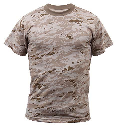 Rothco T-Shirt, Desert Digital Camo, Large